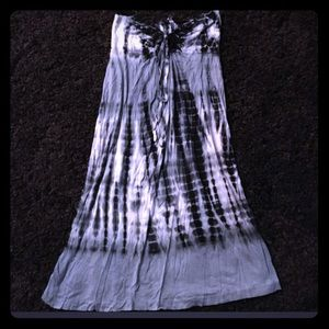 Tye dye strapless dress size small
